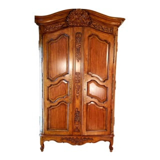 French Drexel Heritage Armoire/ Media Cabinet For Sale