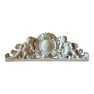 Over the Door or Entry Way Cherub Plaster Plaque For Sale