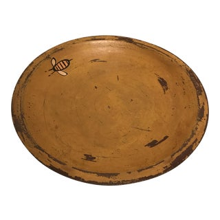 """Early American Style Carved Wood """"Bees"""" Bowl For Sale"""