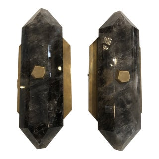 Sdf Rock Crystal Quartz Sconces by Phoenix - Set of 2 For Sale