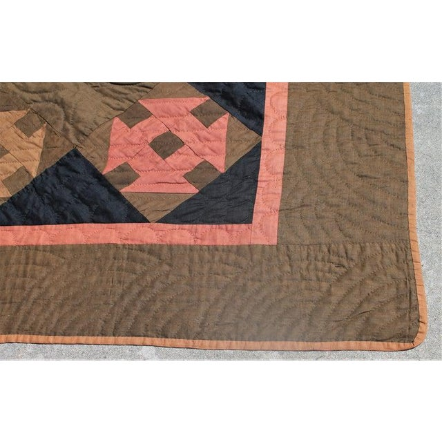 Country 19th Century Amish Hole in the Barn Door Quilt, Dated 1890 For Sale - Image 3 of 8