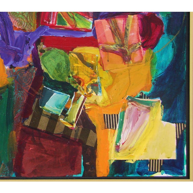 Abstract Abstract Composition With Chair Painting Collage For Sale - Image 3 of 3