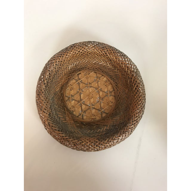 Wicker Wall Hanging Baskets - Set of 5 For Sale In San Diego - Image 6 of 8