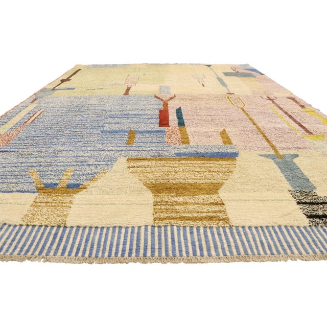 Islamic Moroccan Contemporary Rug - 10'00 X 13'10 For Sale - Image 3 of 10