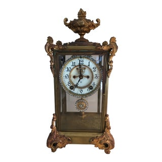 Ansonia Marquis Crystal Regulator Mantle Clock