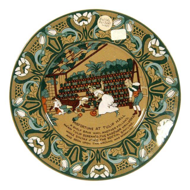 "Buffalo Pottery Deldare ""Misfortune at Tulip Hall"" Plate - Image 1 of 4"