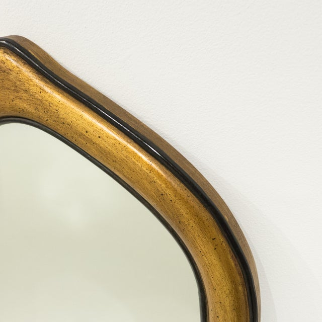 1950s Gilt Gesso Arched Pier Mirror For Sale - Image 5 of 9