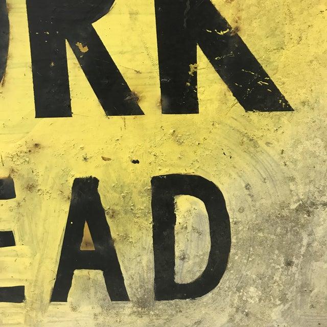 Industrial Vintage Industrial Road Work Sign For Sale - Image 3 of 4