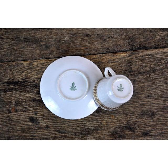 Ceramic Winterling Marktleuthen Bavaria Mid-Century Modern Embossed Diamonds Coffee Pot Porcelain 23 Pieces Set For Sale - Image 7 of 10
