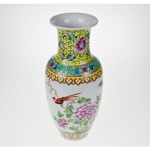 Vintage Hand Painted Macau Porcelain Vase Chairish