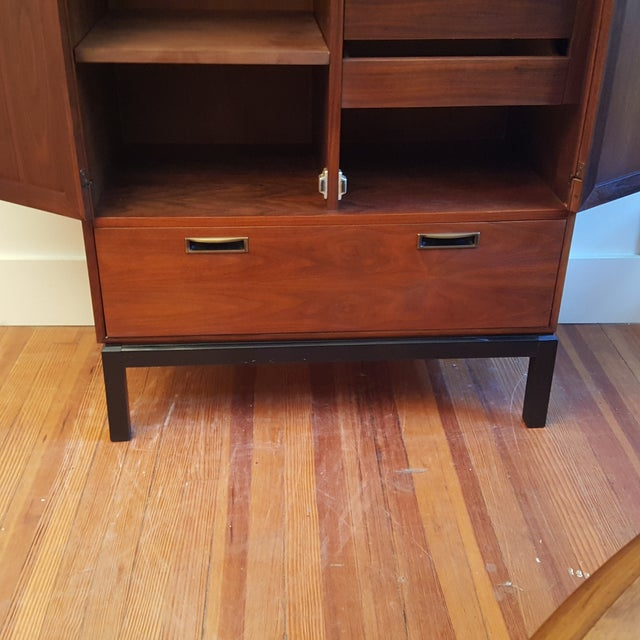 Mid-Century Knoll Attributed Caned Cabinet - Image 5 of 6