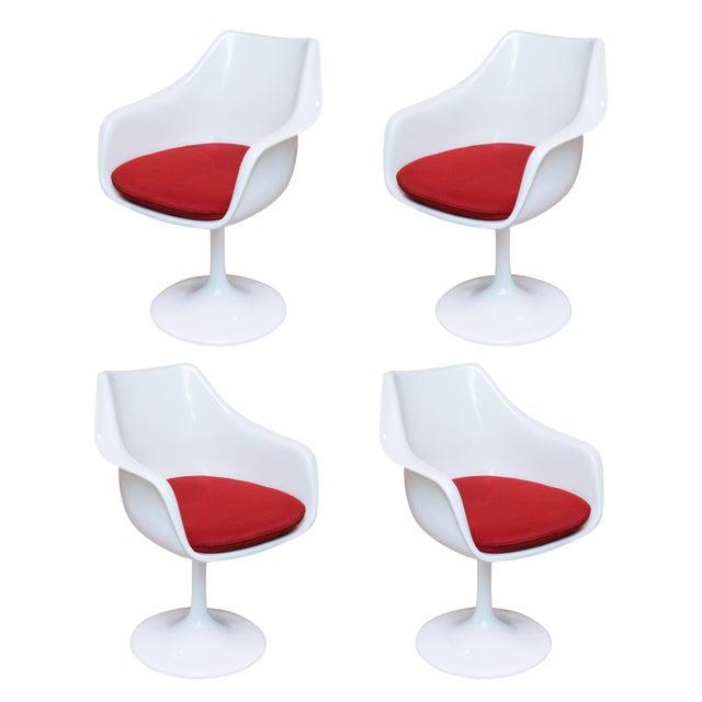 Saarinen Style Tulip Chairs - Set of 4 - Image 1 of 6