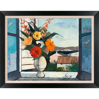 """Circa 1965 """"Bouquet De Printemps"""" Still Life Oil Painting by Charles Levier, Framed For Sale"""