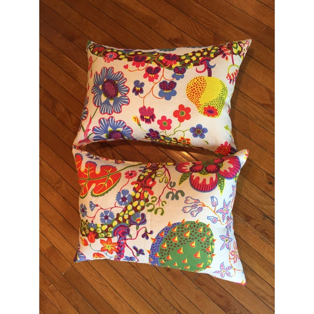 Colorful Floral Pillows - A Pair - Image 2 of 7