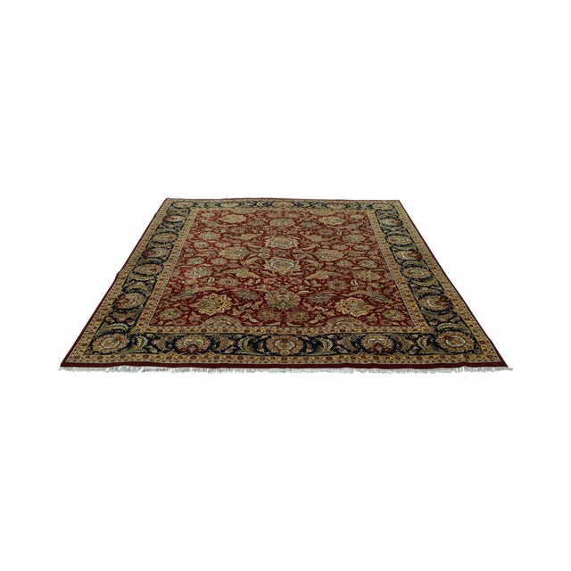 Isfahan 12x16 Hand Knotted Persian Rug For Sale
