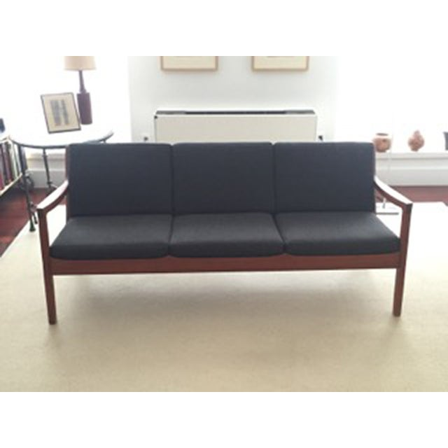 Ole Wanscher Teak 3-Seat Sofa - Image 5 of 7