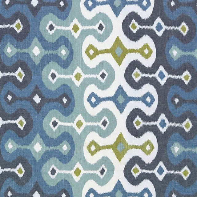 Contemporary Martyn Lawrence Bullard for Schumacher Ikat Pillow Covers - a Pair For Sale - Image 3 of 4