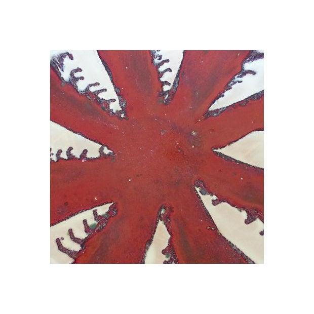 Glazed Pottery Bowl/Plate Centerpiece - Image 5 of 7