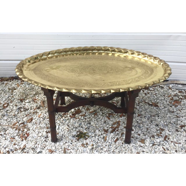 Antique Coffee Tables Ireland: Vintage Brass Tray Coffee Table