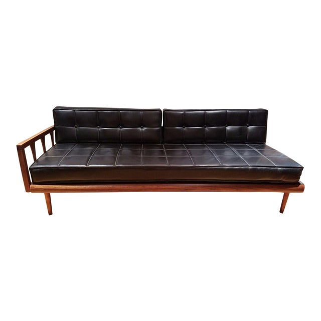 Mid Century Modern Vinyl Daybed / Loveseat - Image 1 of 11