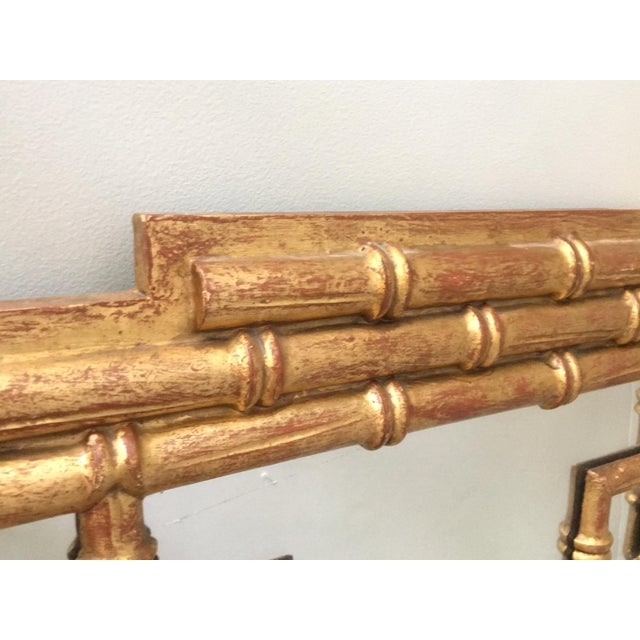 La Barge Asian Chinoiserie Gold Faux Bamboo Wall Mirror For Sale - Image 4 of 4