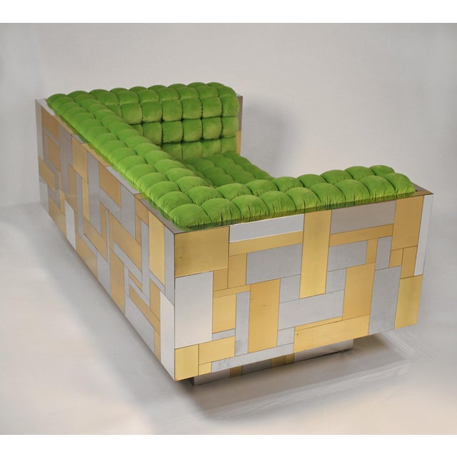 1970s Pair of Cityscape Settees Designed by Paul Evans for Directional C. 1970 For Sale - Image 5 of 11