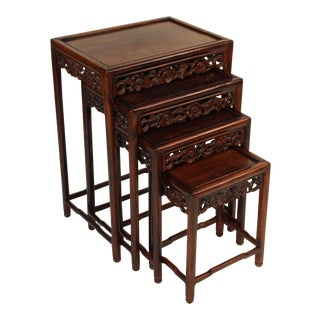 1930s Chinese Nesting Tables - Set of 3 For Sale
