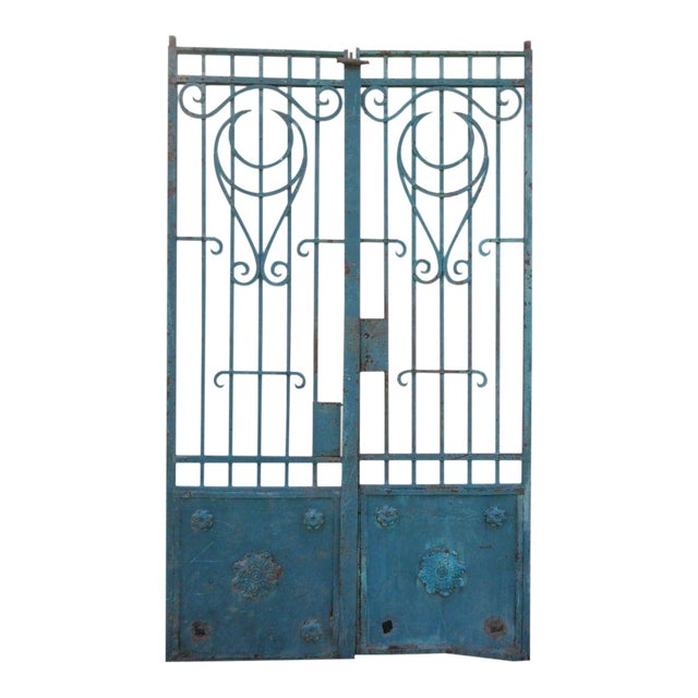 Antique Victorian Iron Gates - A Pair - Image 1 of 8