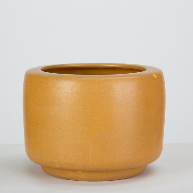 Architectural Pottery Cp-13 Tire Planter in Yellow Glaze by John Follis for Architectural Pottery For Sale - Image 4 of 10
