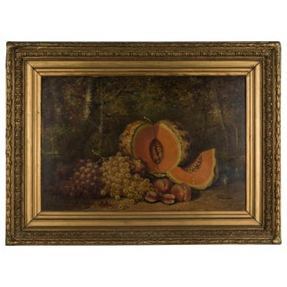 19th Century French Large Still Life Painting For Sale