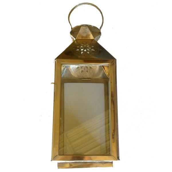 Star Moroccan Square Brass Lantern - Image 1 of 3