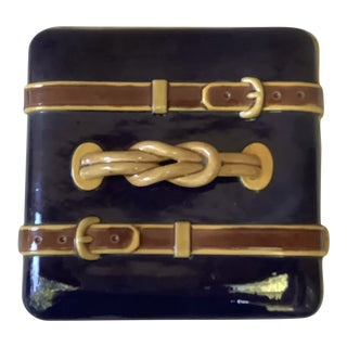 19th-Century Majolica Brown Westhead Moore Box For Sale