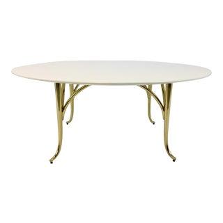 Henredon J. Bilhuber Ivory and Brass Chelsea Road Cocktail Table For Sale