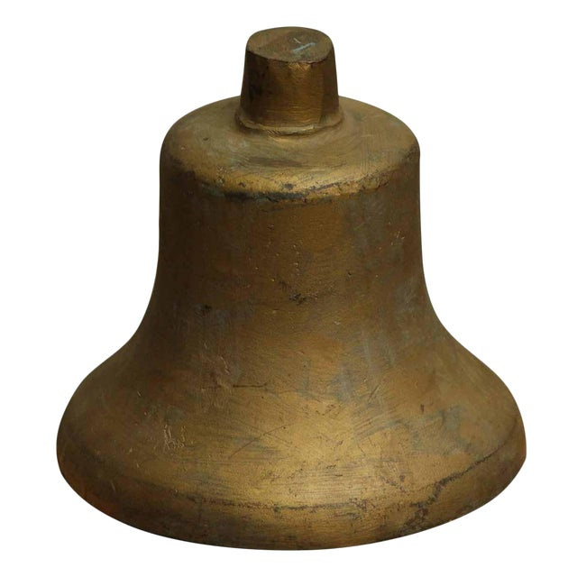 Vintage Gold Painted Bell - Image 1 of 4