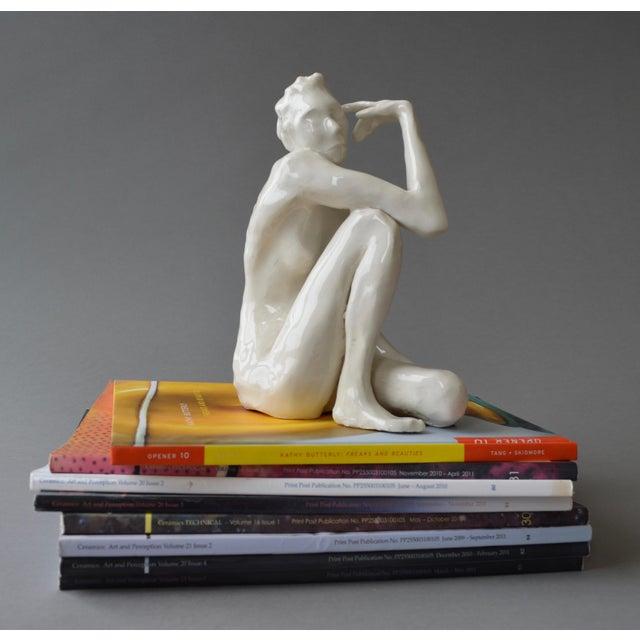 White Contemporary Ceramic Figurative Maquette For Sale - Image 8 of 10