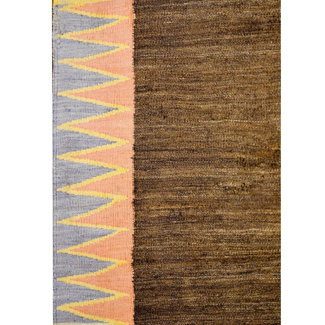 Textile Early 20th Century Shahsevan Kilim Rug For Sale - Image 7 of 9