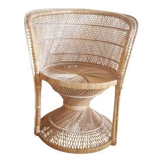 Vintage Boho Wicker Rattan Chair