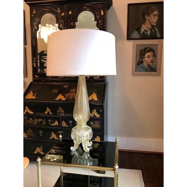 1960s Vintage Seguso Murano Glass Italian Lamp For Sale - Image 9 of 10