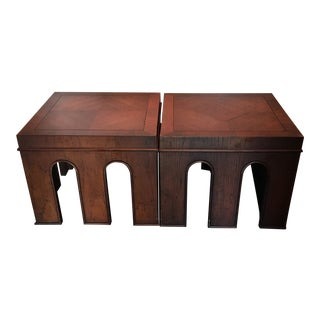 1950s Drexel Wellington Mid Century End Tables - a Pair For Sale