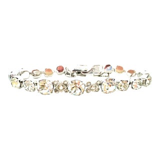 20th Century Silver & Swarovski Crystal Link Tennis Bracelet By, Eisenberg Ice For Sale