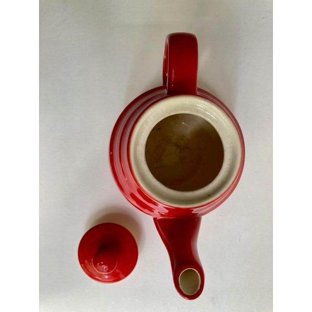 Universal Cambridge Red Ceramic Beehive Tea Pot For Sale - Image 10 of 13