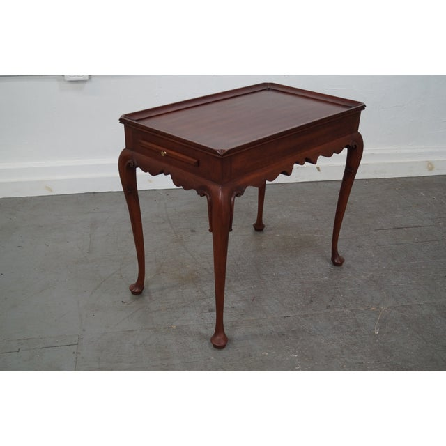 Henkel Harris Solid Cherry Queen Anne Tea Table - Image 4 of 10