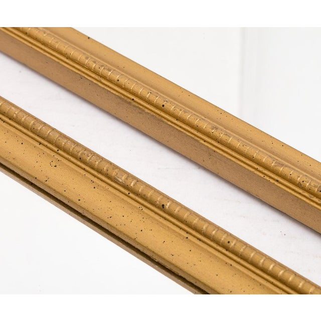 Narrow Gold Wall Mirrors - a Pair For Sale In Richmond - Image 6 of 6