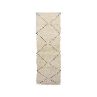 1980s Beni Ourain Moroccan Rug - 2′8″ × 7′10″ For Sale