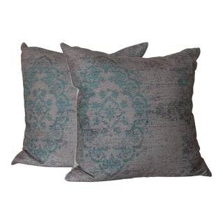 Turkish Rug Print Pillows - a Pair For Sale