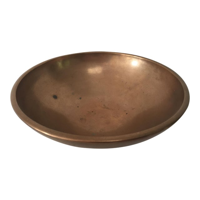 Vintage Chinese Bronze Footed Bowl For Sale