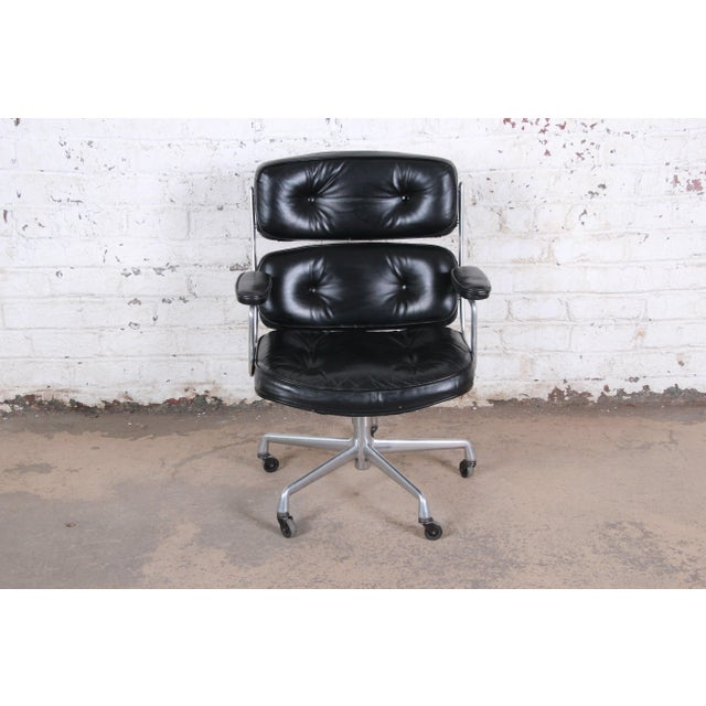 Black Charles Eames for Herman Miller Time Life Executive Chair For Sale - Image 8 of 9