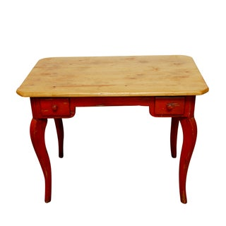 Farmhouse Colle Distressed French Writing Table For Sale
