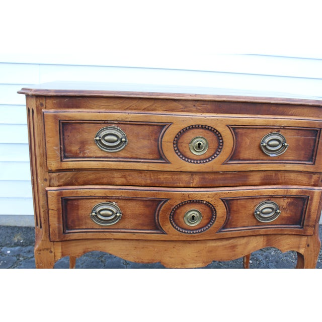 Brown 20th Century Louis XV Cherry Wood Chest For Sale - Image 8 of 9