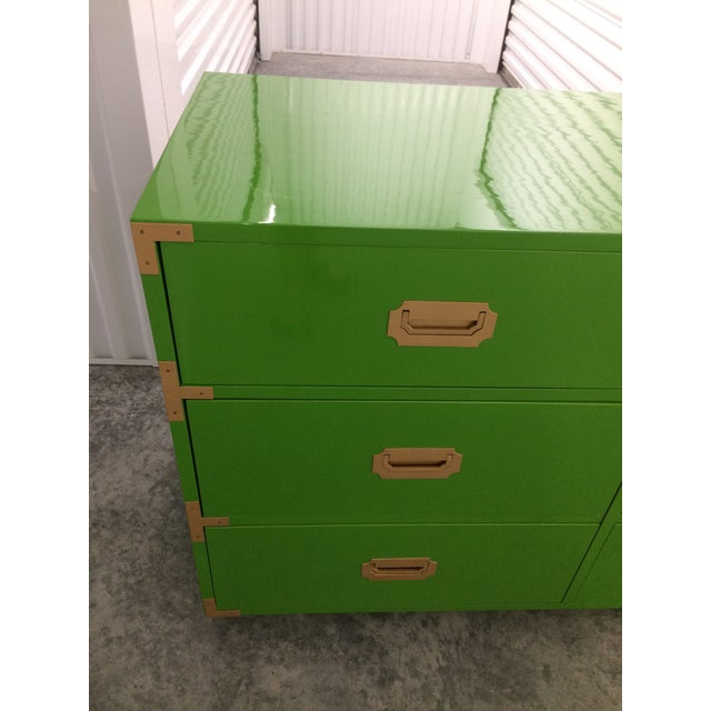 Dixie Campaign Dynasty Green Lacquered Dresser - Image 2 of 6